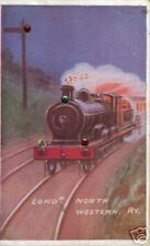"OLD POST CARD OF "" CARTOON THEME L.N.W. RAILWAY ENGINE"
