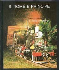 ST Thomas & Isola del Principe 1991 DB 500 Locomotiva a vapore in miniatura foglio Gomma integra, non linguellato