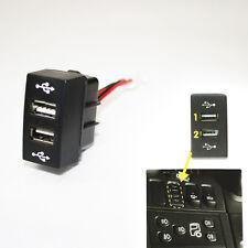 12/24V Doppio Caricabatteria USB CRUSCOTTO BABORDO CAMION uscita LED per