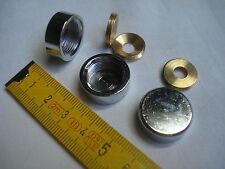 2 cache vis plat 20 mm laiton chromé (réf LC20P)