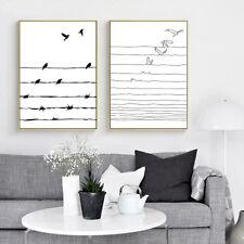 Nordic Decoration Wall Art Canvas Poster Black White Minimalist Print Painting