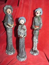 Christmas Carolers Family Stone Resin Figurines