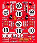 #16 Sandeman Ferarri 512M 1971 1/43rd Scale Slot Car Decals