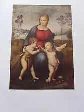 BEAUTIFUL VINTAGE ART PRINT ~ THE MADONNA OF THE GOLDFINCH ~ RAPHAEL
