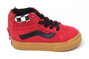 Vans Unisex Baby Sk8-Hi Zip (MTE) Sneakers Checkerboard Red Size 5T