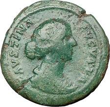 FAUSTINA II Marcus Aurelius Wife 161AD Ancient Roman Coin JUNO i24225