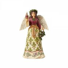 "Jim Shore ""Jolly Holly Days"" Victorian Angel With Candle ~ New ~Mib"