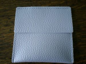 CASE COVER FOR STRATTON POWDER COMPACT POUCH IN SILVER FAUX LEATHER