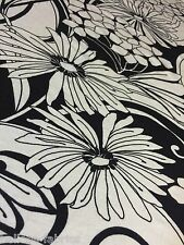 1.4M - Polyester Elastane Black White Abstract Print Jersey Stretch Fabric [552]
