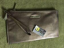 NEW * Gold Color * Clutch Wallet Purse * Zipper Pocket * 8 Card Slots * No Name