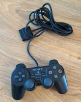Sony Playstation 2 PS2 Dualshock 2 Black Controller - FAULTY - SPARES & REPAIRS