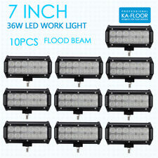"""10x 6"""" 36W Cree Led Work Light Bar Flood Offroad Truck Atv Boat for Jeep Ford 7""""(Fits: Neon)"""