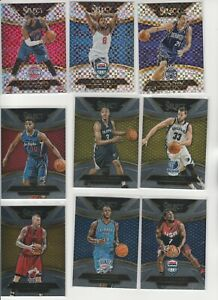 2014-15 SELECT COURTSIDE LEVEL 3 LOT (9) DIFFERENT W/ PRIZM INSERTS USA VLADE
