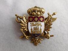 VTG CORO 1930S HERALDIC ENAMELED SHIELD CROWN ROSS SWORDS & WINGS PIN