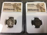 *Ancient Roman Coins Collection* ~ Silver & Bronze ~ Trajan AD 249 NGC VERY FINE