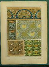Sorbier MP Verneuill lithographie Grasset art nouveau fin XIXe siècle Plantes