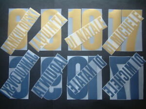 KIT NOME+NUMERO UFFICIALE UDINESE HOME/AWAY 2004-2005 OFFICIAL NAMESETS PL SZ