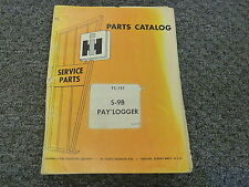 International Harvester IH S9B Pay Logger Skidder Parts Catalog Manual Book