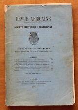 1897 - Revue Africaine - Société Historique Algérienne - N°225-226