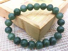 10mm 100% Natural Grade A Jade Oil Blue Jadeite Beads Bangle Bracelet   0022