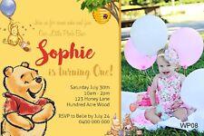 WINNIE THE POOH Personalised Invitation Invite Birthday Party Pooh Bear