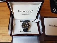 Mathieu Legrand Survolteur Schwarz IP Quarz Armbanduhr MLG-1005B Swiss made