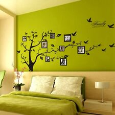X-Large Family Photo Tree Frame Birds Wall Stickers Quate Decals Home Room Vinyl