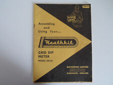 HEATHKIT GRID DIP METER (GENUINE INSTRUCTION MANUAL ONLY)..RADIO_TRADER_IRELAND.