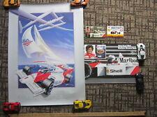Alain Prost, Mclaren, Hercules Formula One Poster and Original Factory Stickers.
