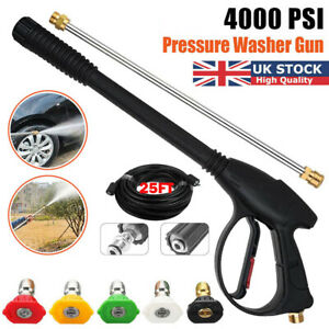 High Pressure Washer Spray Gun and 7.5M Hose Kit with 5 Nozzle For Car Jet Lance