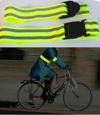 yellow hi viz high vis visibility arm straps reflective belt jogging cyclist