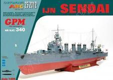 Japanese Cruiser IJN Sendai paper model 1:200 huge 76cm