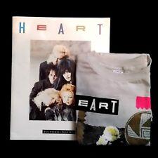 Original Heart Rock Band Vintage Program & T-Shirt (L) Bad Animals 1987
