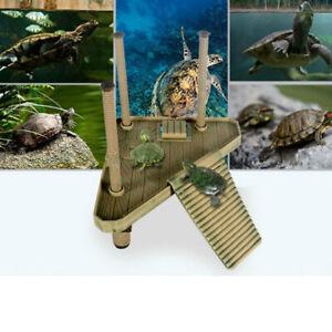 Turtle Pier Floating Basking Dock, Medium Reptile Topper Ramp Platform for