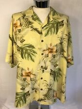 Tommy Bahama Button Front Camp Shirt Men's XL 100% Silk S/S Floral