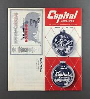 CAPITAL AIRLINES TIMETABLE DECEMBER 1956 FLIGHT SCHEDULE VICKERS VISCOUNT