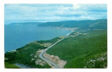 Pleasant Bay Nova Scotia Postcard From Lookoff of Mackenzie Mountain Cabot Trail