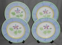 Set (4) Bella Ceramics FLORAL PATTERN Salad Plates