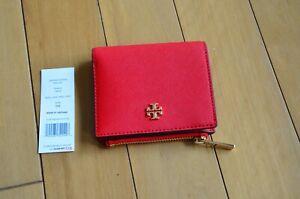 Tory Burch Emerson Mini Wallet Brilliant Red
