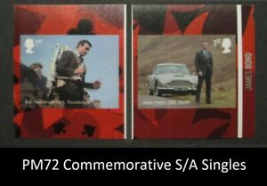 PM72 ... 2020 James Bond Self Adhesive Commemorative SINGLES