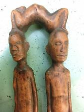 CUILLERE A MANCHE DOUBLE PERSONNAGES PHILIPPINE IFUGAO LUZON SPOON