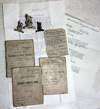 WW2 Canadian Provost Corps Cap & Collar Badges With Paybooks & Documents