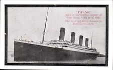 White Star SS Titanic. Titanic Sank on Her Maiden Voyage.