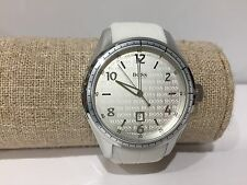 Watch Watch Montre Boss - Quartz - 45 mm Steel - White Rubber Strap