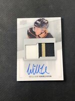 2014-15 UPPER DECK PREMIER WILLIAM KARLSSON ROOKIE AUTO PATCH #ed 183/299