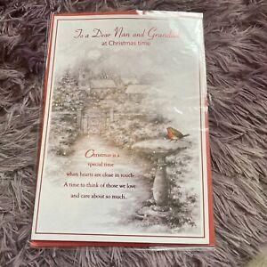 Nan And Grandad Christmas Card