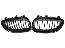 BLACK GLOSS GRILLE KIDNEY LEFT + RIGHT SET FOR BMW E60 E61 5 SERIES 03-10