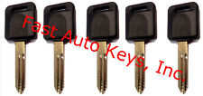 5 (FIVE) NEW UNCUT IGNITION TRANSPONDER CHIPPED KEYS FOR NISSAN/INFINITI ID46