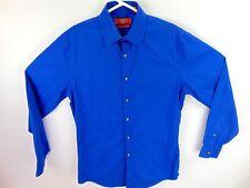 38e4f66e Egara Mens Wearhouse Dress Shirt Solid Blue Size 14.5 Extra Slim Fit Non  Iron