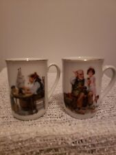 Norman Rockwell Museum Authentic Collector Mugs-2 1982 vintage